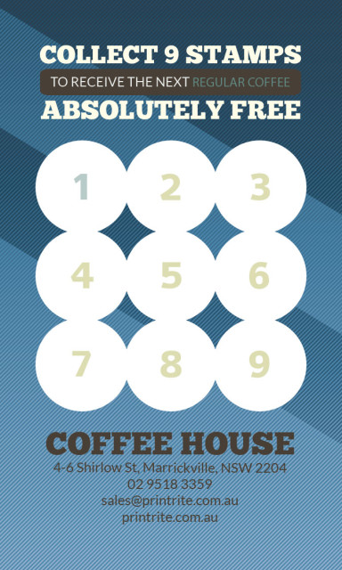 Loyalty Card Coffee PrintRite