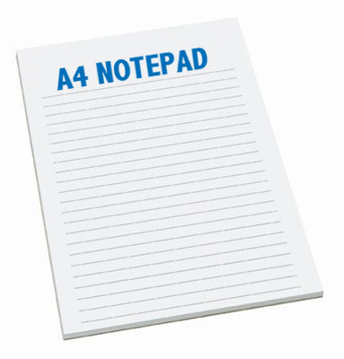 Notepad A4